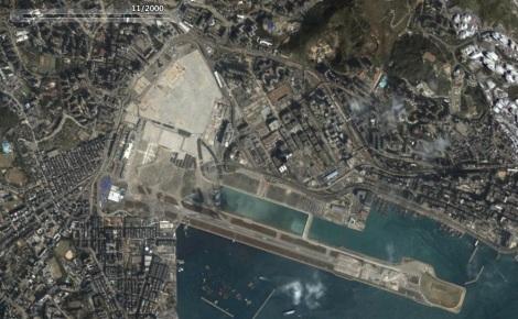 Imagen satelital del año 2000, 2 años después de su cierre.