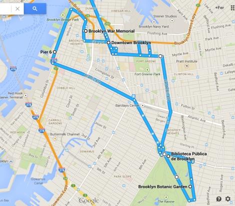 El recorrido por Brooklyn.